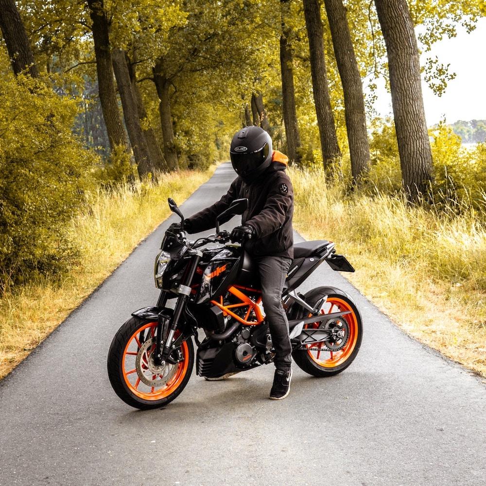 motobiker on a bike | Imperial Motorcycles